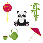 Chinese icons — Stock Vector
