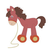 Vintage toy horse — Stock Vector