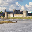 King John Castle in Limerick - Stock Photo