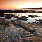 Atlantic ocean scenery at sunset — Stock Photo #10873802