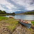 Boat at the Killarney lake in Co. Kerry — Stock Photo