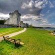 Stock Photo: Empty bench at Ross Castle