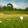 Golf ball on the beautiful golf course — Stock Photo #10876083