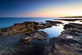 Atlantic ocean scenery at dusk — Stockfoto