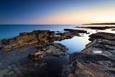 Atlantische oceaan landschap in de schemering — Stockfoto