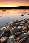 атлантический океан пейзаж на закате — Стоковое фото