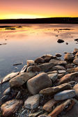 Atlantic ocean scenery at sunset — Stock Photo