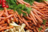 Fresh carrots from the market — Stock Photo