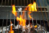 Feu de barbecue — Photo