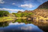 Килларни пейзажи с горы и озеро — Стоковое фото