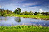 Idyllic golf course — ストック写真