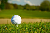 Golf ball on the beautiful golf course — Stock Photo