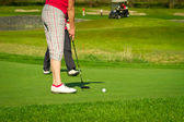 Golfer on the course — Stock Photo
