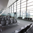 New terminal at Lech Walesa Airport in Gdansk - Stock Photo