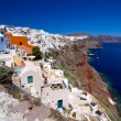 Oia village on Santorini island — Stockfoto