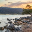 Sunset at Mirabello Bay on Crete — Stock Photo
