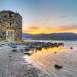 Stock Photo: Old windmill ruin at Mirabello Bay