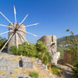 Stock Photo: Ancient windmills of Lasithi Plateau