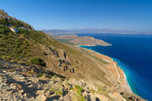Bay with blue lagoon on Crete — Stock Photo