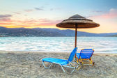 Mirabello Bay at sunset, Greece — Stock Photo