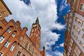 Stadshuset i gamla stan i gdansk — Stockfoto