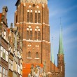 St. Mary's Church in old town of Gdansk — Stock Photo