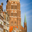 St. Mary's Church in old town of Gdansk — Stock Photo #11995327
