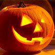 Halloween pumpkin with scary face — Stock Photo #11995599