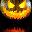 Halloween pumpkin with scary face — Stock Photo #11995616