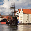 Motlawriver in old town of Gdansk — Stock Photo #11995784