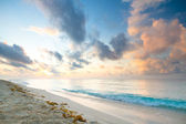 Caribbean beach in Playacar — Stock Photo