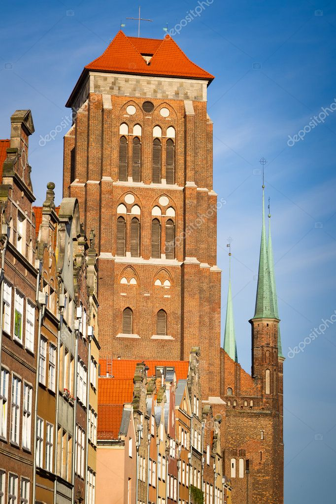 St. Mary's Church in old town of Gdansk, Poland — Stock Photo #11995327