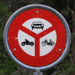Swiss traffic signs — Stock Photo
