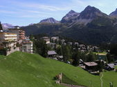 Arosa in swiss — Stock Photo