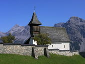 Montagne église arosa — Photo