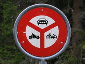 Swiss traffic signs — Stockfoto