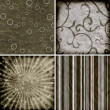 Set of four different retro pattern scrapbook backgrounds — Stock Photo #11316085