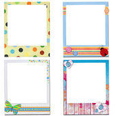 Design of kids photo frame — Stock Photo
