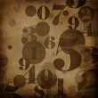 Background in grunge style with numbers — Stock Photo #11404081