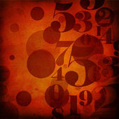 Background in grunge style with numbers — Stockfoto