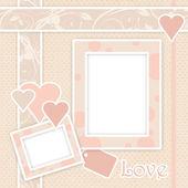 Rama różowy z serca — Zdjęcie stockowe