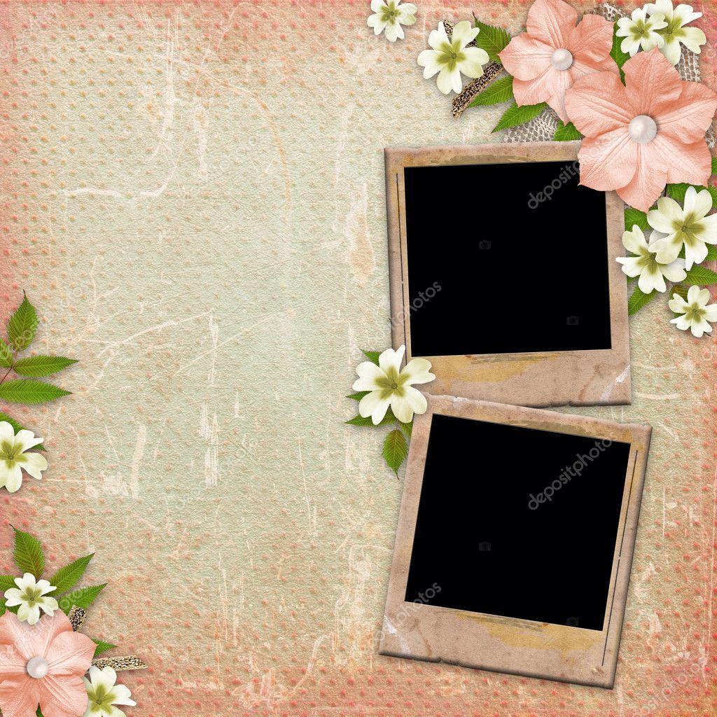 vintage hintergrund mit bildern spitze und blumen komposition stockfoto o april 11420602. Black Bedroom Furniture Sets. Home Design Ideas