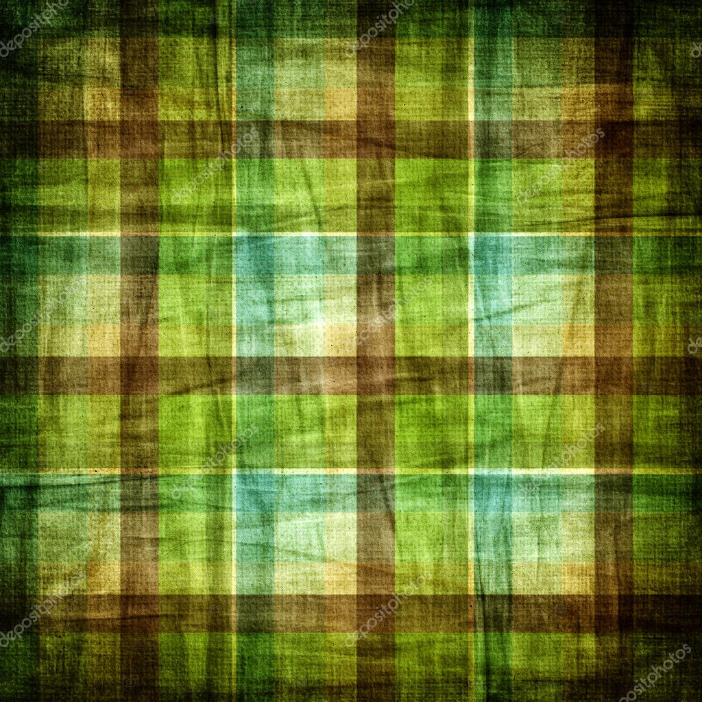 Blue and green plaid background