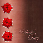 Card for congratulation or invitation for Mother`s day with red — Stock Photo