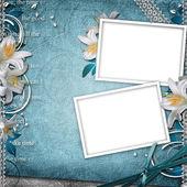 ビンテージ花の背景 — ストック写真