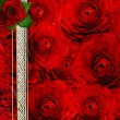 Stock Photo: Abstract grunge textured background with roses for the cover des