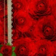 Abstract grunge textured background with roses for the cover des — Stock Photo