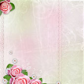 Beautiful wedding, holiday background with roses — Stok fotoğraf