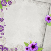 Card for the holiday with flowers on the abstract background — Foto Stock