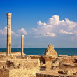 Ruins of Antonine Baths at Carthage, Tunisia - Stock Photo